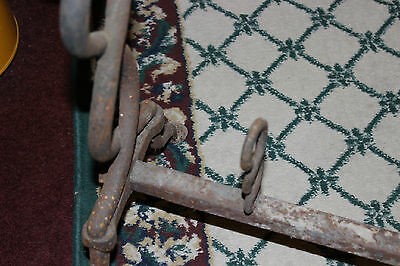 Antique Cast Iron Fireplace Andirons-Unusual Twisted DNA Strand-Large Andirons 11