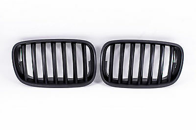nieren k hlergrill f r bmw x5 e70 bj 2006 2013 front grill matt schwarz eur 264 90. Black Bedroom Furniture Sets. Home Design Ideas