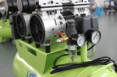 236L/min Dental Air Compressor Noiseless Oilless Motors GA-62 60L Tank AU 220V 5