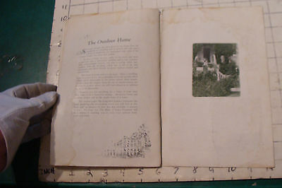 1925 THE BOOK OF LAWN FURNITURE--Long Bell lumber--CATALOG, 36pgs STAINED 11