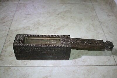 Antique India Rosewood Lidded Spice Box Samruddhi Keralan Museum Quality 1890's 3