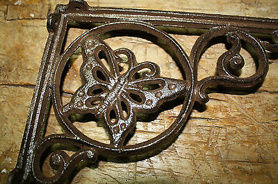 8 Cast Iron Antique Style LIFE RING Brackets Garden Braces Shelf Bracket Bamboo