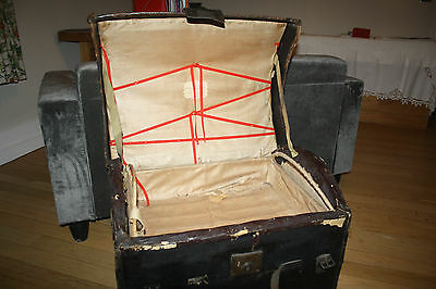 dome-top leather canvas coach trunk very early 19th century  FILM PROP ideal 2