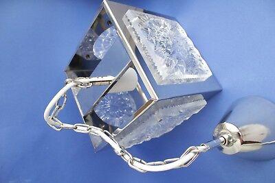 Swedish vintage brass chrome plated Crystal ORREFORS VINTAGE  LAMP 4