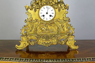 A French Gilt Bronze Mantle Clock 4