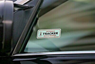 2 x GPS TRACKING WINDOW STICKERS, VEHICLE CAR VAN DETER THEFT STOPLOCK DISKLOK 6