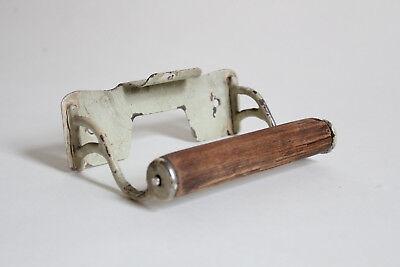 antique toilet paper holder towel post ends | vtg deco cigar rest victorian bath 2