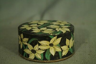 rare vintage old Powder Box Friend making package Doux Jasmin France flowers 3