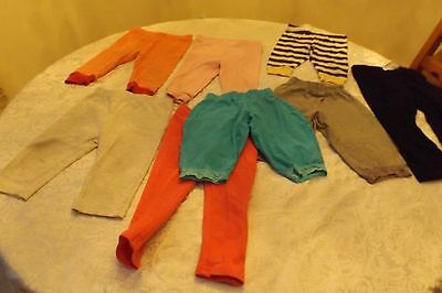 lot of 8 girl pants 3-18 month