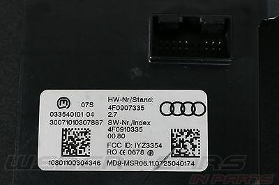 Audi A6 S6 4F Steuergerät Antenne Zugang und Startberechtigung KESSY 4F0907335 X