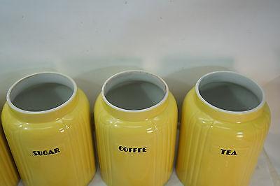 Vintage Hall China Flour Sugar Tea Coffee Canister Set Radiance