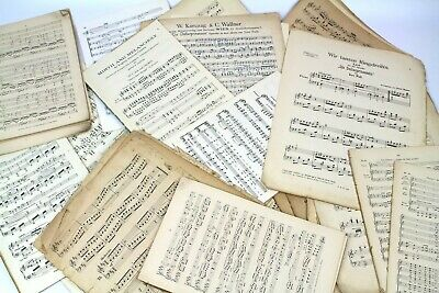 ~~100g OF VINTAGE MUSIC SHEETS - CHRISTMAS CRAFTS. DECOUPAGE CARD MAKING 2