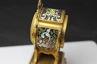 Gorgeous Vintage French Miniature 8-day Clock 6