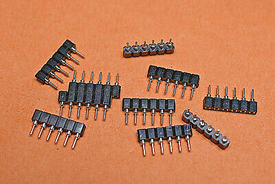10x SIL Socket Strip 6 Way Turn Pin Gold Plated SBU06OZ 10