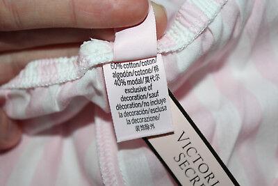NWT Victoria's Secret Cotton Blend Pink/ White Striped Pajama Shorts sz S 5