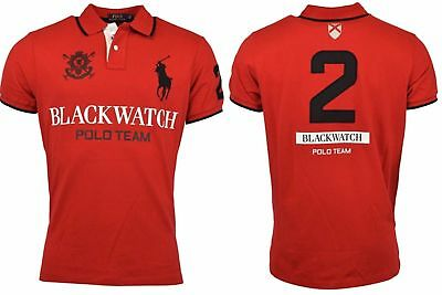 ***3XB*** BIG /& TALL Ralph Lauren Mens S//S Blackwatch Mesh Polo Shirt