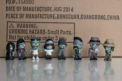"""Packaged 1 3//4/"""" one Complete set of all 8 Big Head HOMIES ZOMBIES figures"""