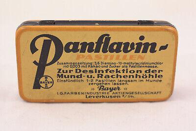 Alte Blechdose Panflavin Desinfektions Pastillen von Bayer 2