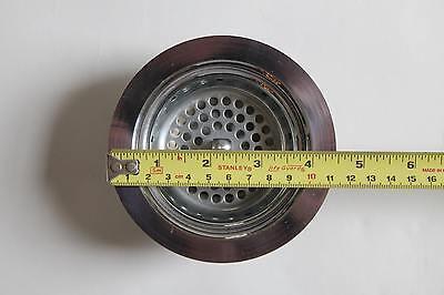 antique vintage sink drain strainer | art deco antique vtg plumbing nickel 3