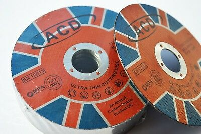 50 X METAL CUTTING / SLITTING DISCS 115MM 4.5 INCH x 1mm x 22mm ultra thin