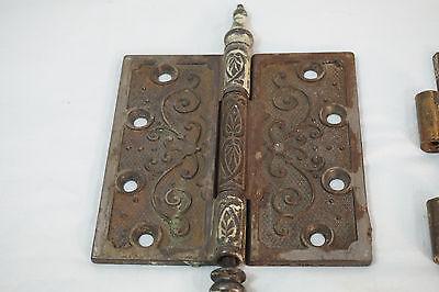 Antique Door Hinges Aesthetic Hardware Victorian Lot Steeple 1877 Singles 4