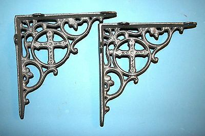 (10) Cross Decor, Cross Shelf Brackets, Old World Decor, Shelf Brackets, B-25 2