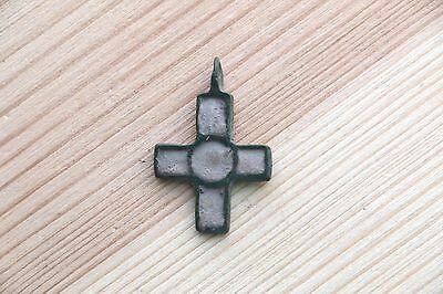 Fantastic Viking Kievan Rus Pendant Cross with with rectangular ends 10-11 AD 11