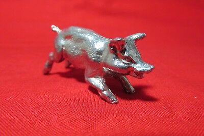 Hog Pig Pewter Figurine