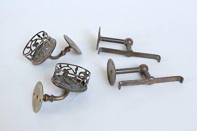 antique bathroom cup tumbler holder shelf supports | jl mott vtg deco victorian 8