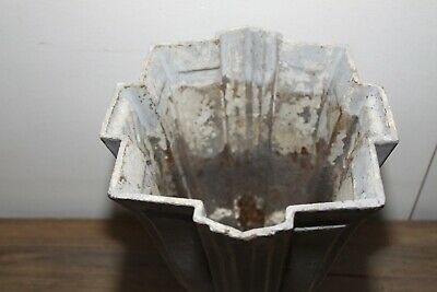 Large Antique French Art Deco Cast Iron Vase. 6