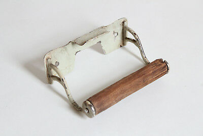 antique toilet paper holder towel post ends | vtg deco cigar rest victorian bath 9