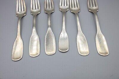 "Hans Hansen Susanne Sterling Silver Luncheon / Salad Fork – 6 1/2"" – Set of 6 6"