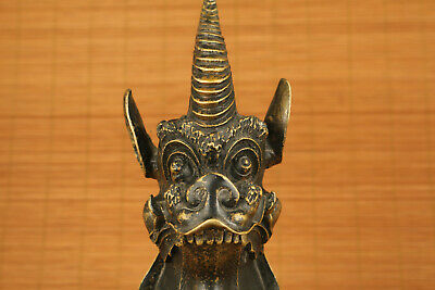 Big Antique bronze hand carved unicorn statue collectable home decoration 10