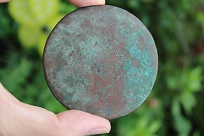 Genuine Islamic Persian Middle Eastern bronze mirror, circa 900-1100 AD 2