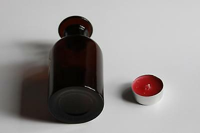 Apothekerflasche, Form selten, rund, alt, AQUA AMYGDAL. AMAR. SCHLIFF STOPFEN