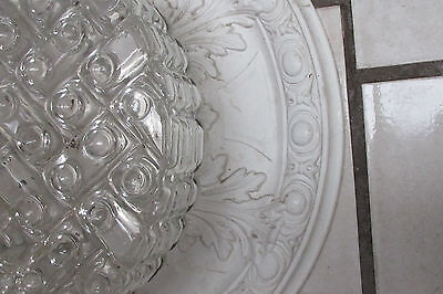 plafonier chandelier Flush mount  MIDCENTURY  bubble glass top condition 2