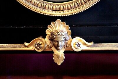 Antique French GS Medaille D'Or 1867 8-Day Striking Marble, Bronze Mantel Clock 6