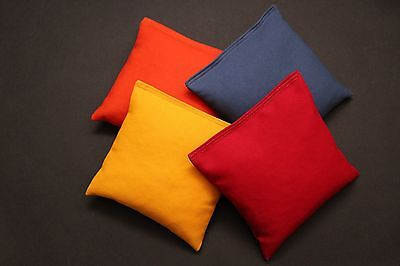 Set of 8 Cornhole Bags ACA Regulation Size Pick Your Colors Top Quality Handmade 2