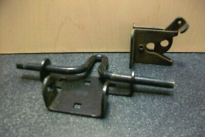 Stanley Hvy Ga Steel Slide Bolt W Lockable Gate Latch & 2 Barn Door Hinges Bolts 3