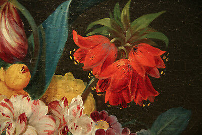 Impressive  Antique 19th Century French Painting Flower Still Life 5