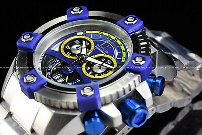 "Invicta 63mm Reserve Grand Octane Arsenal ""PINNACLE"" Swiss Silver Blue SS Watch 6"