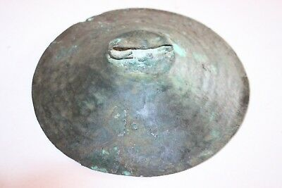 ANCIENT IRON AGE BRONZE CYMBAL c.1000 BC Musical Instruments 4