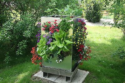 Hochbeet Alu Pflanzturm Karl 500 Pflanzinsel Blumenturm Stabil