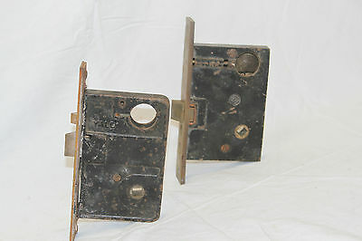 Antique Architectural Salvage Lot Of 5 Brass Door Locks 4