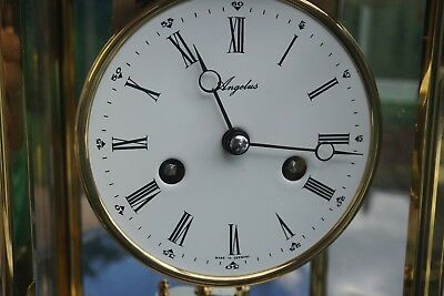 A Large Four glass mantel carriage clock by Angelus 8