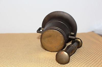 Mörser Schlegel Stössel antik Pistill Küche Pulver Deko Tabletten #6254 3