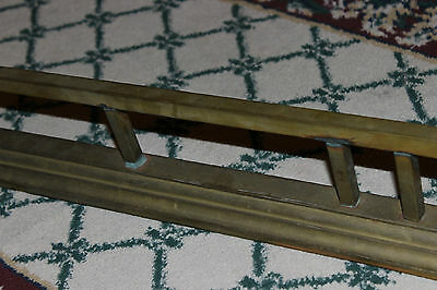 "Antique Fireplace Fender Surround Skirt-Copper & Brass-52"" Long-Arts & Crafts 5"