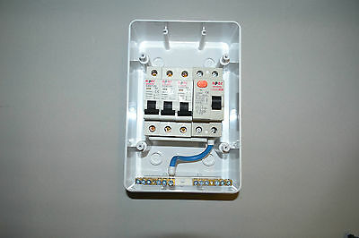 3 WAY GARAGE,HOME,CARAVAN Consumer Unit Box RCD + 3 MCB's ... Wiring Garage Consumer Unit on