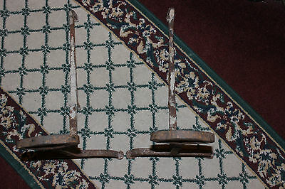 Antique Cast Iron Andirons W/Celtic Shape-Pair-Fireplace Inserts-Architectural 5