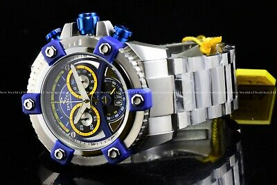 "Invicta 63mm Reserve Grand Octane Arsenal ""PINNACLE"" Swiss Silver Blue SS Watch 9"
